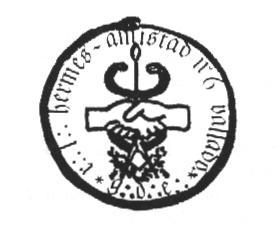 Sello de a R.·.L.·. Hermes-Amistad Nº6